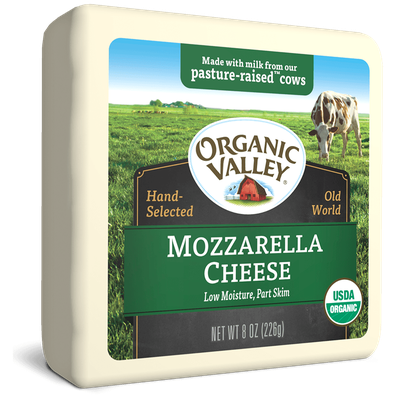 Organic Valley® Low Moisture Mozzarella, Part Skim