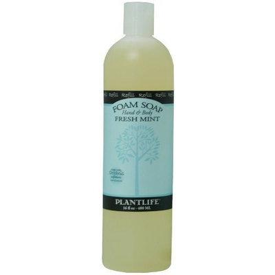 Plantlife Hand & Body Foam Soap Fresh Mint 16oz Refill