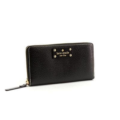 Kate Spade New York Wellesley Neda Zip-Around Wallet [Beige]
