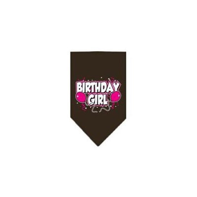 Ahi Birthday Girl Screen Print Bandana Cocoa Small