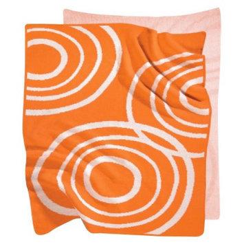 Nook Poppy Knitted Organic Cotton Blanket