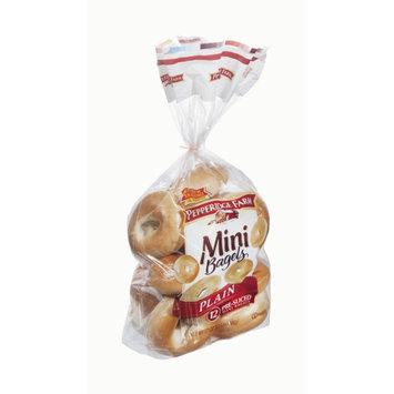 Pepperidge Farm Mini Plain Pre-Sliced Bagels - 12 CT