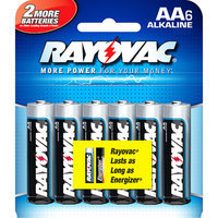 Ray-o-vac 6 Pack Aa Alkaline Battery 815-6F