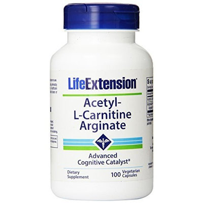 Life Extension Acetyl L-Carnitine Arginate, 100 Capsules