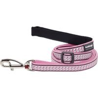 Red Dingo L6-RB-PK-SM Dog Lead Reflective Pink Small