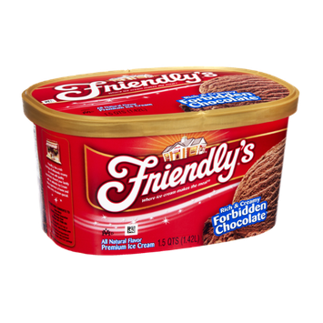 Friendly's Rich & Creamy Forbidden Chocolate Premium Ice Cream