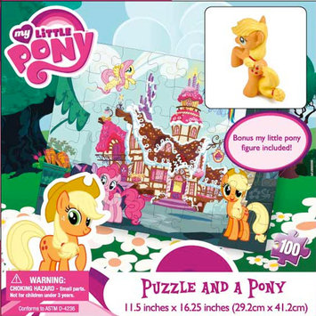 Cardinal Industries, Inc. My Little Pony 100 Piece Puzzle and Pony