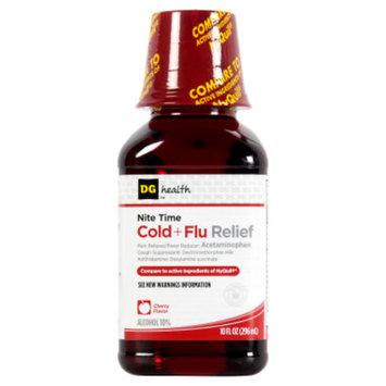 DG Health Nite Time Cold + Flu Relief - Cherry Flavor