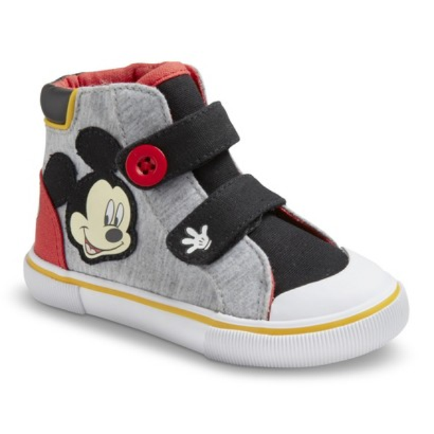 Toddler Boy's Disney Mickey Mouse Sneakers - Grey 12