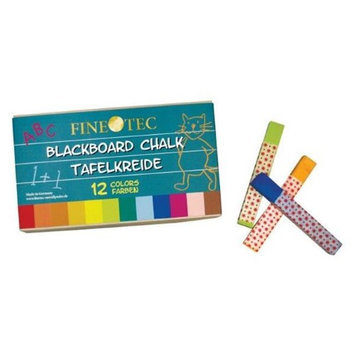 Finetec ML415 12-Color Blackboard Chalk Set