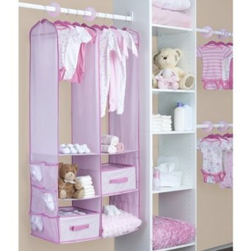 Delta Children Delta Nursery Closet Organizer - Pink (24 Pieces)