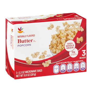 Ahold Butter Popcorn - 3 CT