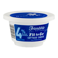 Friendship Fit to Go 4% Milkfat Cottage Cheese California Style Small Curd