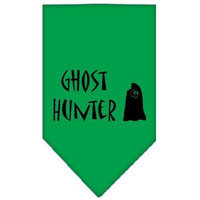 Mirage Pet Products 661301 LGEG Ghost Hunter Screen Print Bandana Emerald Green Large