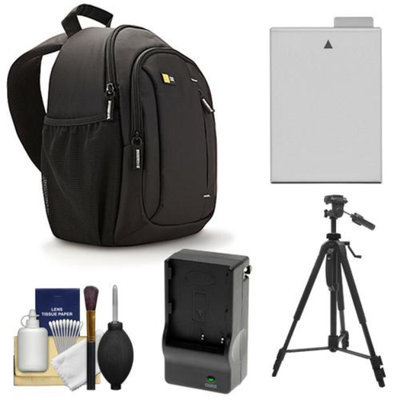 Case Logic TBC-410 Digital SLR Camera Sling Case (Black) with LP-E8 Battery & Charger + Tripod + Kit for Canon Rebel T3i, T4i, T5i