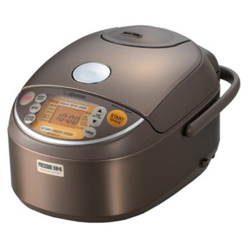 Zojirushi Induction Rice Cooker & Warmer - Stainless Steel/Brown (5.5