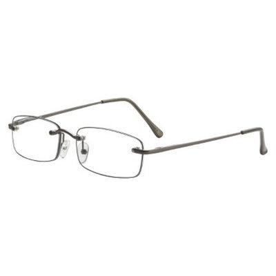ICU Eyewear ICU Plastic Rimless Rectangle Readers With Case - +1.25