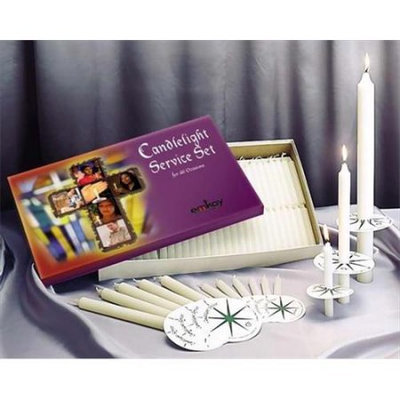 Emkay Candles 34101 Candle No. 1 Candlelight Service Set With 125 Candles