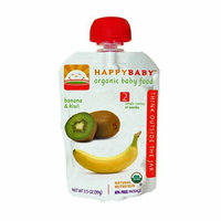 Happy Baby Organic Baby Food Stage 2 Banana and Kiwi 3.5 oz Case of 16
