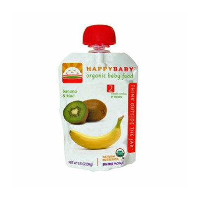 Happy Baby Organic Baby Food Stage 2 Banana and Kiwi 3.5 oz Case of 16