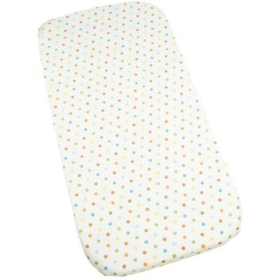Carter's Carters Super Soft Printed Changing Pad Cover, Blue/Green Dot (Discontinued by Manufacturer)
