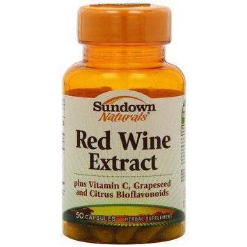 Sundown Naturals Red Wine Extract Capsules, 50 Count Bottle