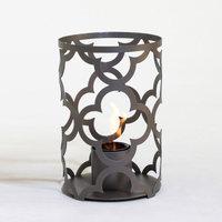 TF Essentials Mediterranean Outdoor Steel Lantern Brushed Steel, Size: 12 x 8