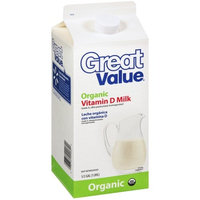 Great Value Organic Vitamin D Milk, .5gal