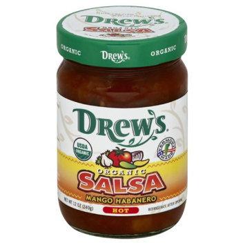 Drews All Natural 12 oz. Organic Hot Mango Habanero Salsa - Case Of 12