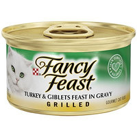Fancy Feast Wet Cat Food, Grilled, Turkey & Giblet Feast in Gravy, 3-Ounce Can, Pack of 24