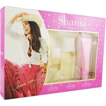 Shania Twain By Stetson For Women. Set-edt Spray 1.7-Ounce & Body Lotion 4-Ounce & Eau De Toilette Spray .375 -Ounce Mini
