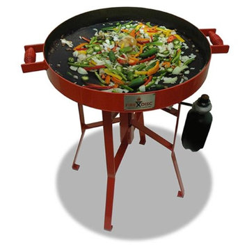 Firedisc Grills FireDisc TCGFDM22HRR Mini 22 In. HR Grill With Heat Ring Red