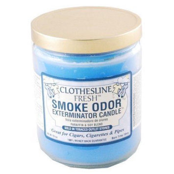 Odorex Smoke Odor Exterminator 13oz Jar Candle, Clothesline Fresh