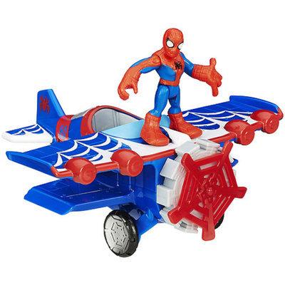 SUPER HERO ADVENTURE Playskool Heroes Marvel Super Hero Adventures Stunt Wing Spider Plane Vehicle with Spider-Man Figure