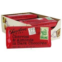 Chocolove Xoxo 20840 Dark Chocolate Cherry & Almond Mini Bar