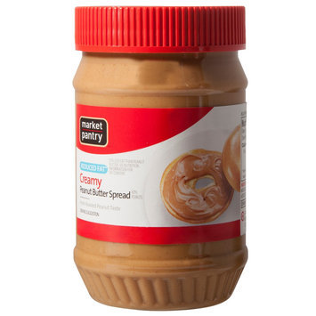 Market Pantry Reduced Fat Creamy Peanut Butter - 18 oz.