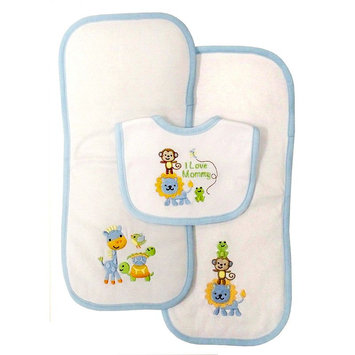 Baby Treasures 3-Pc. I Love Mommy Bib And Burp Cloth Set
