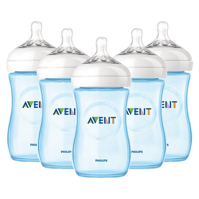 Philips Avent BPA Free Classic 9 Ounce Polypropylene Bottles, 5-Pack