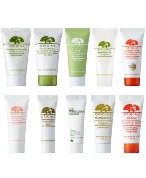 Choose 3 Free deluxe samples with any Origins skincare purchase