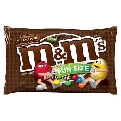 M&M Milk Chocolate Candies Fun Size