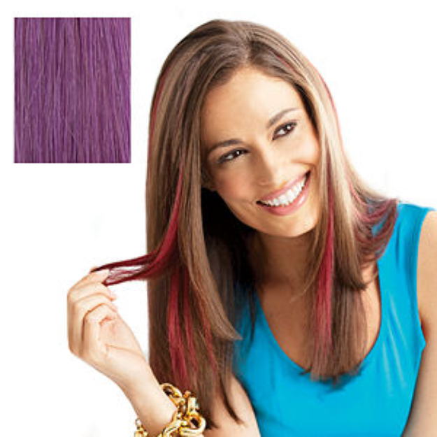 POP Put On Pieces Human Hair Clip-In Color Strip