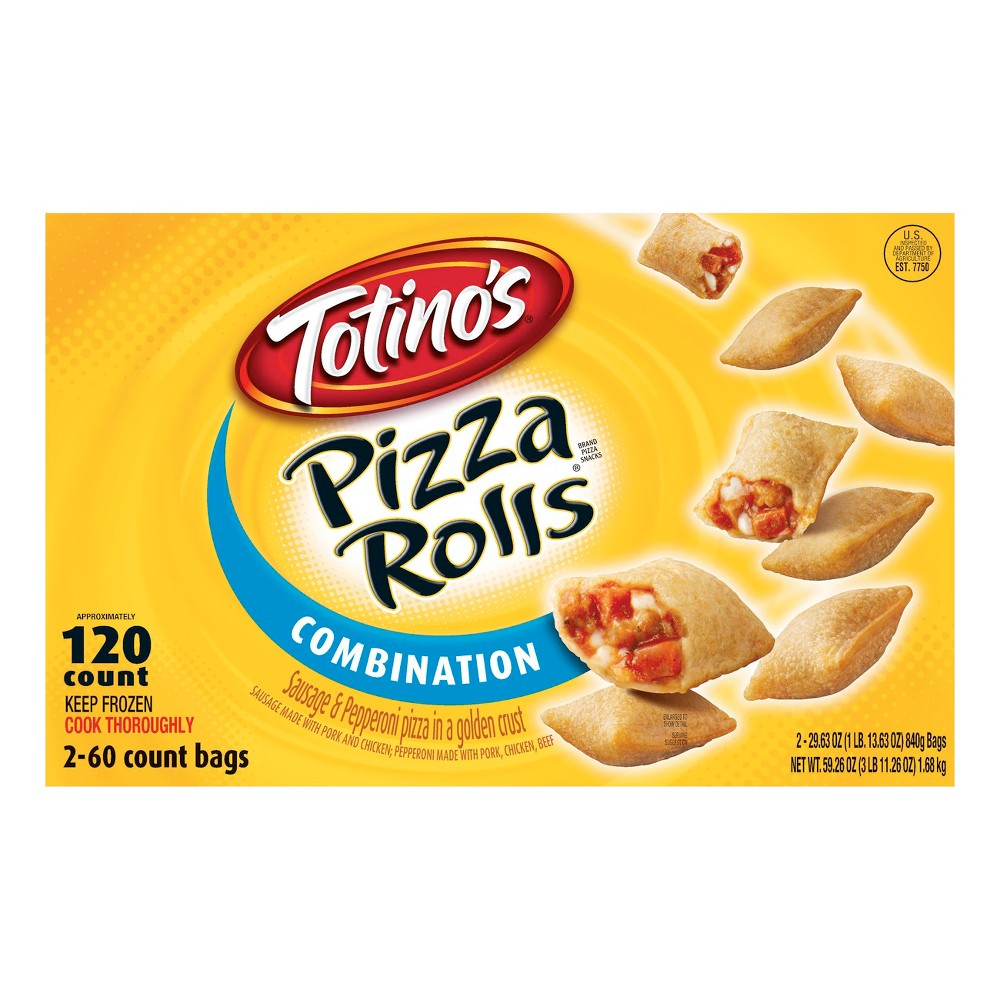 Totino's Combination Pizza Rolls Bags - 120 Count 59.26 oz