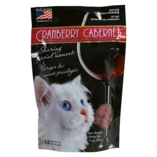 Slide: Omega Cranberry Cabernet Cat Treat 3oz