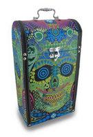 Zeckos Colorful Sugar Skull Wine Box Double Bottle Holder
