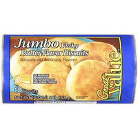 Great Value Butter Flaky Jumbo Biscuits, 8 count, 16 oz