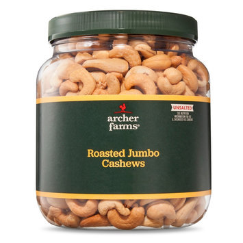 Archer Farms Unsalted Roasted Jumbo Cashews 30 oz