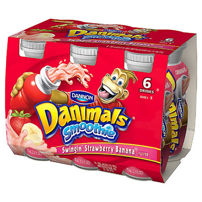 Dannon Danimals Strawberry Banana Yogurt 3.1 oz 6pk