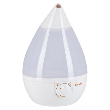 Crane Drop Ultrasonic Cool Mist Humidifier - White