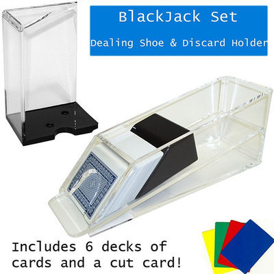 Trademark Global Games Trademark Poker Blackjack Dealing Shoe & Discard Holder - 6 Deck