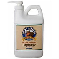 Grizzly Pet Products Grizzly Pet Dog Salmon Oil Skin and Coat Supplements, 64 oz.